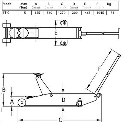 Compac Garage Krik 5T-C, 5 ton, normale uitvoering