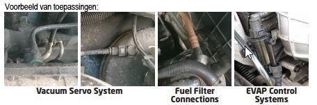 Voorbeeld van toepassingen Laser Tools 6933 met Connect 37011