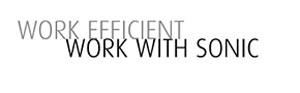 Werk efficient, werk met sONIC