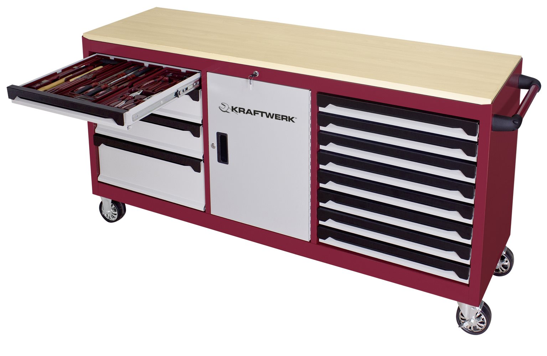 kraftwerk gereedschapwagen 12 laden extra largo leeg. Black Bedroom Furniture Sets. Home Design Ideas
