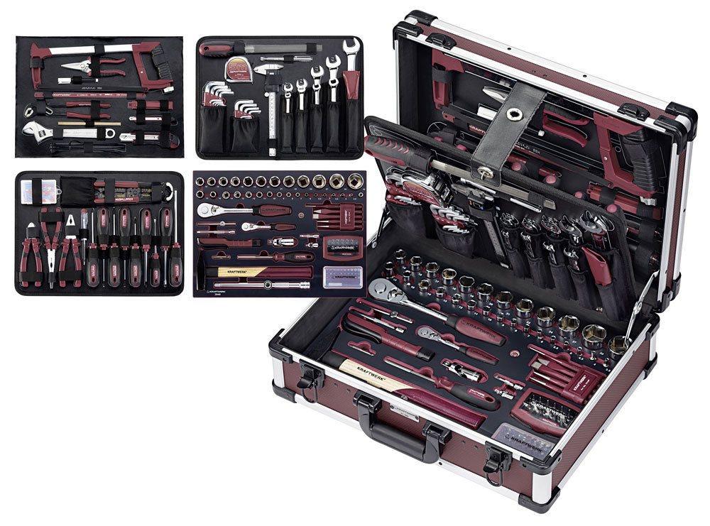 Kraftwerk 3948 gereedschapsset in koffer 263 delig - Malette rangement outils vide ...