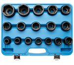 "17-piece 3/4"" Impact Socket Set, 19 - 55 mm"