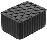 Rubberen pad   hefplatforms  160 x 120 x 80 mm