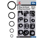 O ringen 5-20 mm Ø, assortiment 50 delig