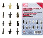 Assortiment, bekledings clips VW, Audi, Volvo, Chrysler, Ford & Mercedes, 350-delig