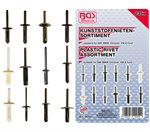 Assortiment, klinknagels GM, BMW, Chrysler, VW & Ford, 235-delig