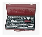 "Dopsleutel set 1/2"", 22 delig in metalen dioos"